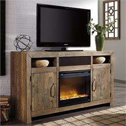 LARGE TV STAND W/FIREPLACE W775-48/W100-101 Image